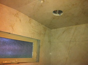 quartzite steam shower ceiling