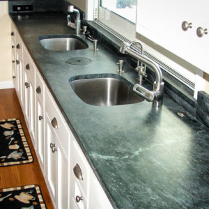 Soapstone Countertops By California's Own - Soapstone Werks on green countertop options, green soapstone counter, green bathroom vanity, green minas soapstone, green counters in kitchen,